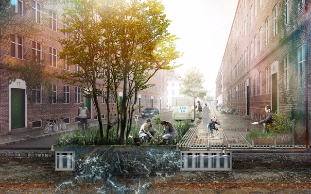 Arquitetos e urbanistas têm o dever de procurar respostas e desenvolver projetos e sistemas resilientes para as populações.Imagem: Third Nature.
