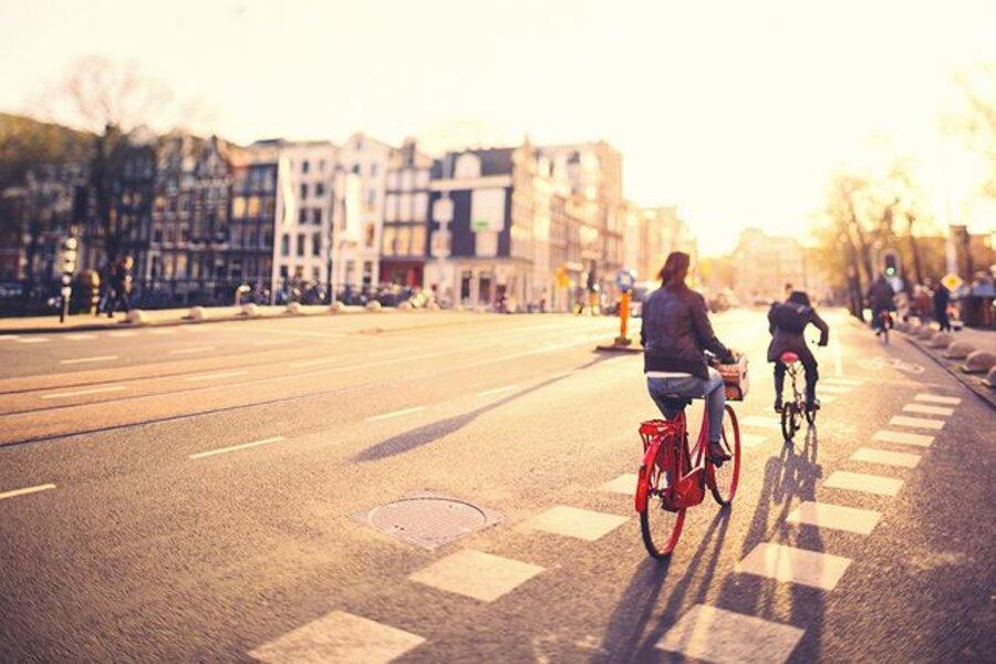 Amsterdam, The Netherlands. Tilt shift lens.