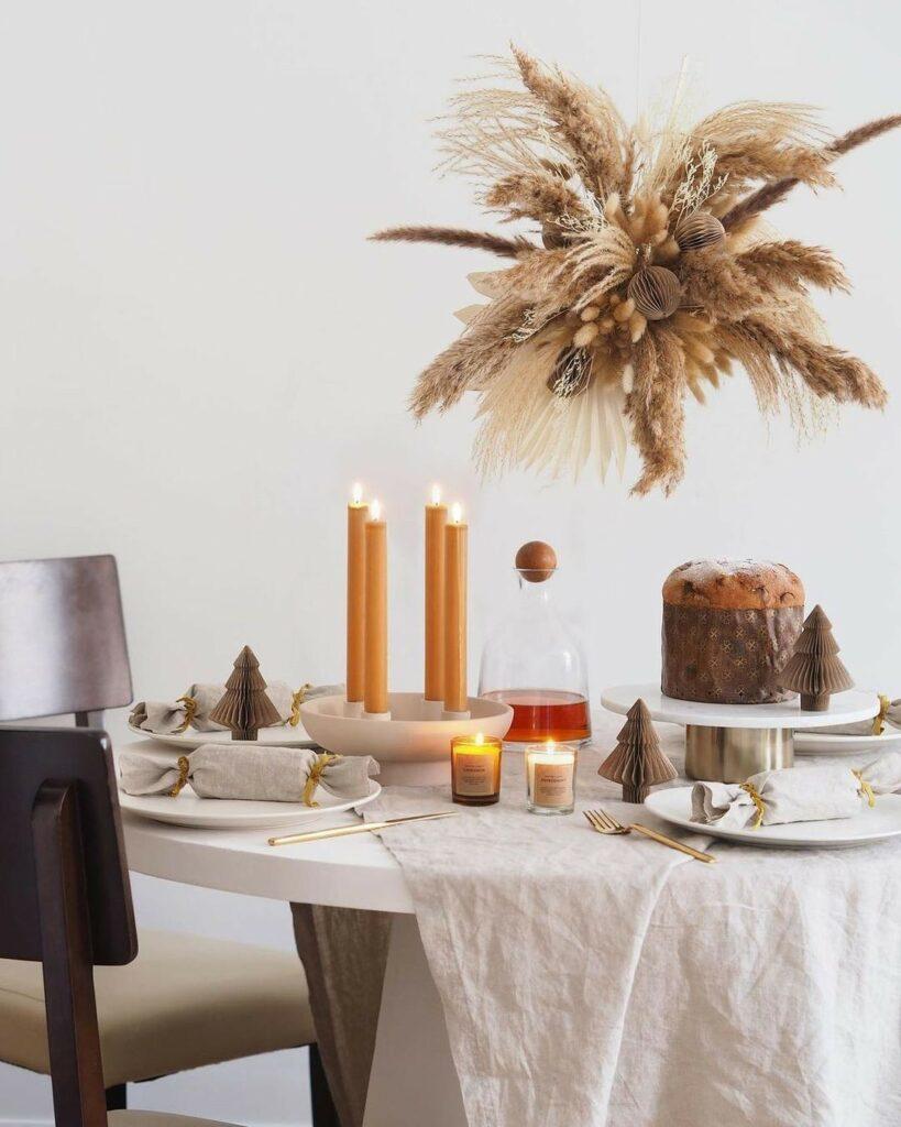Ideias de mesa posta: reunimos 10 tendências para inspirar suas festas de fim de ano (Foto: Reprodução Instagram)
