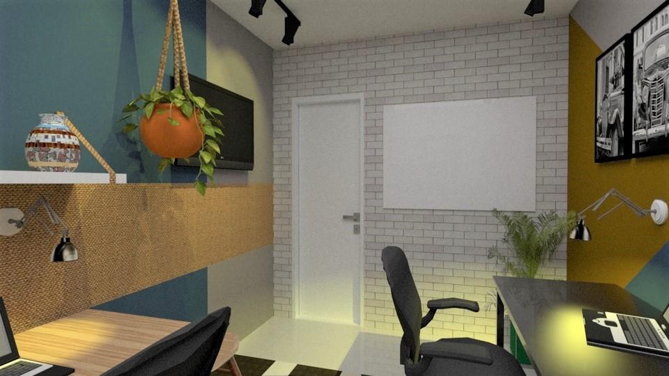 Projeto de design de interiores de um home office, pela arquiteta Amanda Rocha