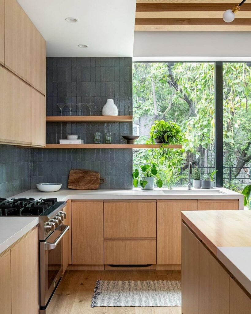 cozinha cor madeira