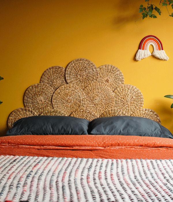 Cabeceira de palha - Foto: Diycore (Pinterest)