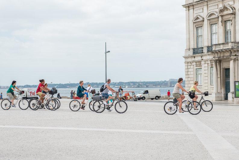 bicicletas na rua
