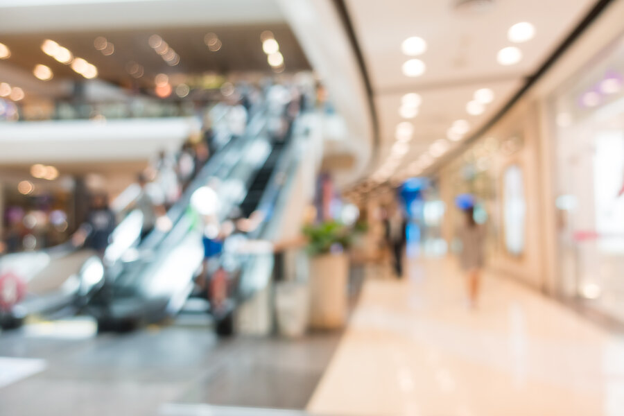Abstract blur beautiful luxury shopping mall center and shop retail store interior for background